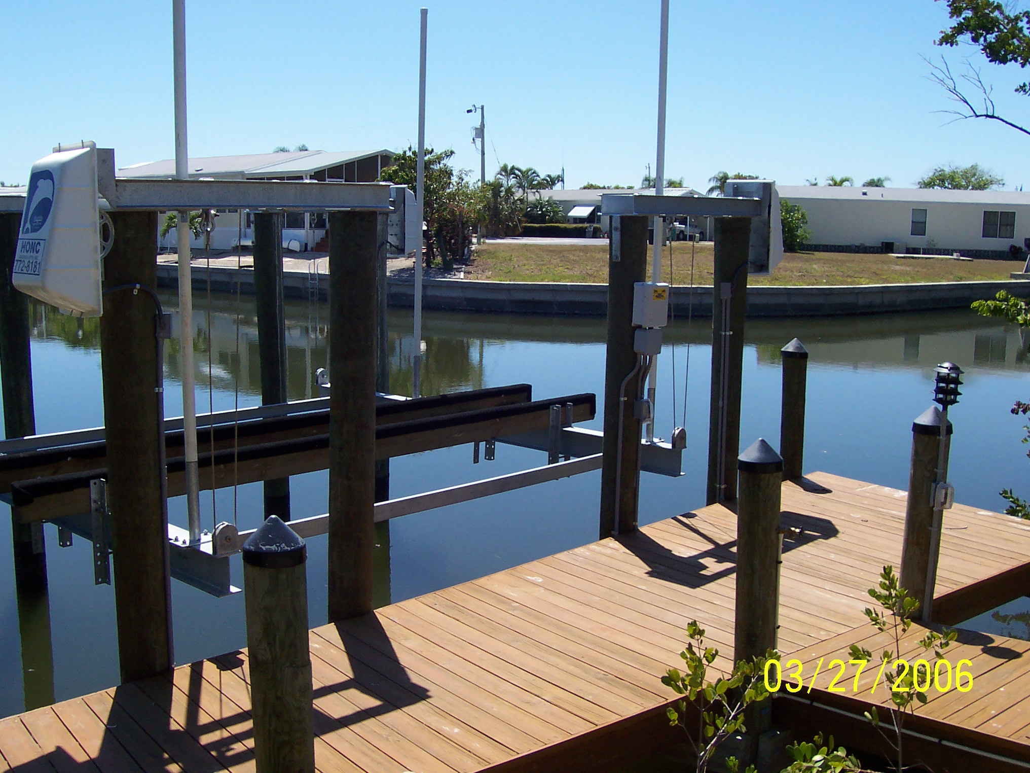 naples boat dock and boat lift electrical wiring power and lights
